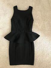 Women's Topshop Peplum Black Dress Petite Size 4 petite