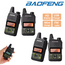 4x Baofeng BF-T1 Walkie Talkie Long Range Two Way Radio UHF400-470MHZ Interphone