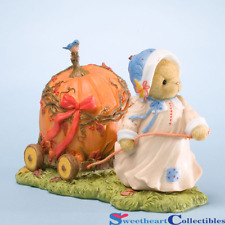 Cherished Teddies Halloween Mildred Pulling Pumpkin Car Thankful