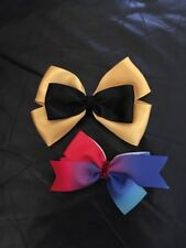 Madelienas ..Large EMMA  hair Clip +  Rainbow Bow Clip As Picture