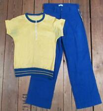 Vintage 1940s Markle School Sand Knit Basketball Warm Up Uniform Shirt/Pants #2