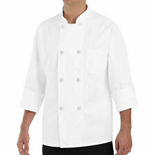 New Chef Designs Men's Long Sleeve Chef Coat White Xl