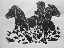 Bastel-Schablonen mit Pferde-Motiv