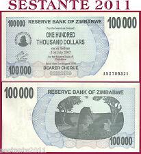 ZIMBABWE - 100000 100.000 DOLLARS 1.8.  2006 -  P. 48b    - FDS / UNC