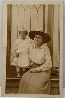 RPPC Toddler & Lady from Wetzel Alburtis Allentown Wescoesville Pa Postcard D12