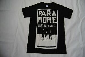 PARAMORE B&W IMAGE LIVE IN CONCERT T SHIRT NEW OFFICIAL RARE HARD TO FIND