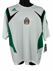 NWT Mexico Men's Futbol Soccer Jersey White & Green Large