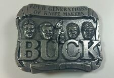 Buck Knife Metal Belt Buckle Made for Smoky Mountain Knife Works MINT