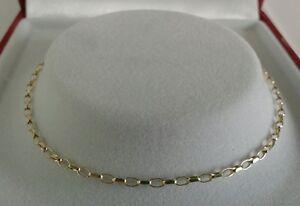9ct Gold Ladies Solid Link Diamond Cut Mini Belcher Bracelet. 7.5 Inch.