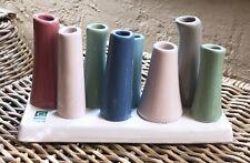 CHIVE CA POOLEY Bud Vase 8 Tubes Pink Green Ceramic Art Modern Multi-Color