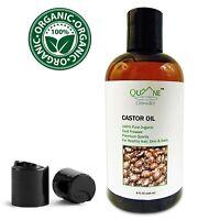 Quane Cosmetics Castor Oil Organic 8 oz - Regrow Brows Eyelashes & Hair Faster!