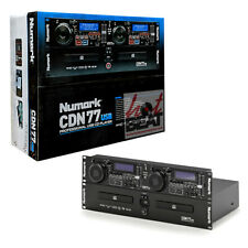 Numark CDN77USB Rack-Mountable DJ Professional Dual CD Player MP3 USB Jog Wheel