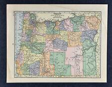 c1905 Hammond Map - Oregon Salem Eugene Astoria La Grande Klamath Falls Portland