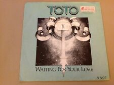 TOTO - 1982 Vinyl 45rpm Single - WAITING FOR YOUR LOVEb