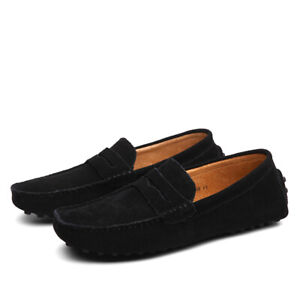 10 Colors Mens Slip On Flats Casual Penny Driving Moccasins Loafer Shoes 38-49 L