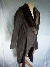 Women's Outdoor Faux Fur Popper Knee Length Coats & Jackets