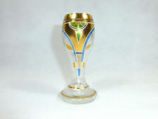Unusual bohemian glass vase for 1900 modern style vase