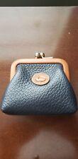 Vintage Mini kisslock Dooney&Bourke Black change purse w/ saddle trim