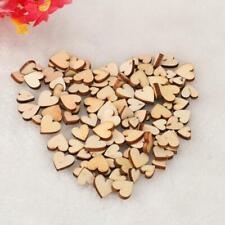 200*Mini Wooden Small Mix Rustic Love Heart Wedding Table Scatter L6C0 Dec D6N1