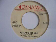 """New ListingToots & The Maytals Reggae's Got Soul Dynamic Reggae 7"""" Hear"""