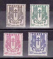 FRANCE 1945 N° 670-673 ** MNH  COTE 0,80 € Les chaînes brisées