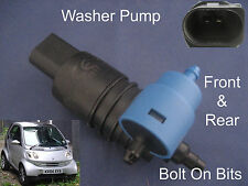 Front & Rear Windscreen Washer Pump Smart ForTwo Coupe 2004 2005 2006 2007