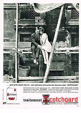 PUBLICITE ADVERTISING   1962   SCOTCHGARD    tissus textiles  contre la pluie