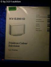 Sony Bedienungsanleitung KV S2951D Color TV (#2038)
