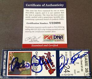 JOSH HAMILTON ROCCO BALDELLI Signed 2001 Ticket Auto PSA/DNA Certified Autograph