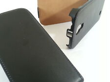 Samsung Galaxy Note 4 GENUINE LEATHER flip case BLACK phone cover skin four