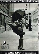 Publicité Advertising 1977 Les Chaussures Bottes France Arno