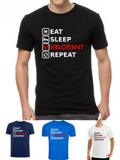 Valorant Eat Sleep Repeat Gamer Joueur T-Shirt