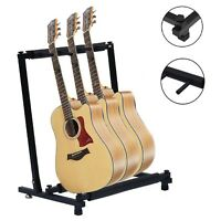 UK 3 Way Multi Guitar Stand Foldable Acoustic Electric Bass Guit Holder