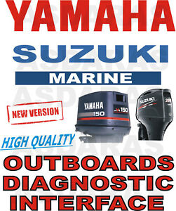 Full High Quality YAMAHA & SUZUKI OUTBOARD USB YDS SDS boat diagnostic kit cable