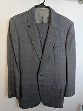 Belvest Neiman Marcus Suit Fully Canvassed 42 L Super 100's Wool kiton brioni