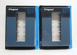2-Pack Legrand adorne Soft Touch Felt Green, 3-Gang Wall Plate, AWP3GFG4