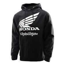 felpa Honda Wing Po colore nero con cappuccio 73141621 misura S Troy Lee Designs