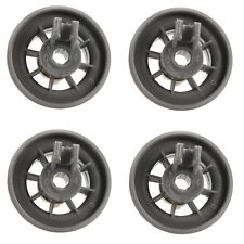 4 x Dishwasher Lower Basket Rail Wheels For Bosch Neff & Siemens - Grey