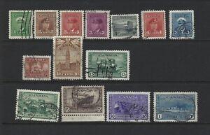 Canada 1942 War Issue Used Set   #249-262 VF $23