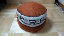Mongoloian Style Beanie Brown Hat Size Large