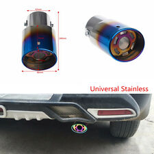 Car Racing Blue Colorful Stainless Steel Tail Round Exhaust End Muffler Pipe Tip