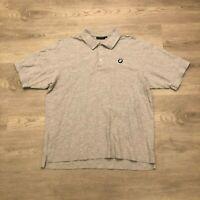 BMW Lifestyle Mens Embroidered Logo Gray Polo Shirt Cotton Poly Blend Size XL
