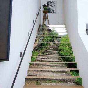 3D Stair Riser Staircase Sticker 13pcs/set Photo Mural Vinyl Wallpaper