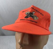 2e275083852 ... Sponsor White Red Trucker Hat Cap SnapBack Embroidered Logo. C  33.43  Buy It Now. Vtg Quail Unlimited Hat Snapback Cap Orange Neon Kansas City  Chapter ...