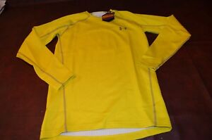 NWT MSRP $69 Mens Under Armour UA Cold Gear Fitted Infrared SMALL Yellow Base