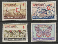 UAE Dubai 3393 - 1964 Anti-TB opt'd on RED CROSS set of 4  unmounted mint