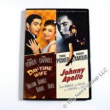 Day-Time Wife / Johnny Apollo DVD New Tyrone Power Dorothy Lamour Linda Darnell