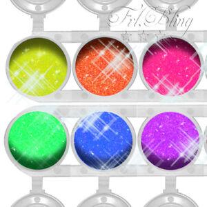 GLITZER Set NEON UV / Schwarzlicht / GLITZERTATTOOS / Neon Party / UV aktiv NEU