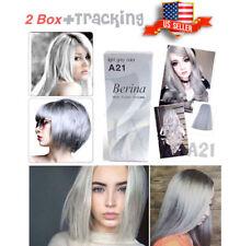 2 Box Hair Light Grey Silver Color Dye Cream Permanent Long Stylish Salon A21 US