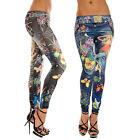 Sexy Women's Stretchy Slim Leggings Soft Pants Stylish Jeans Look Skinny legging